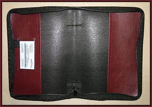 Bible Cover Inside on Zipper Tooth