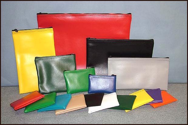 Zipper Wallets Vinyl Bank Money Bags